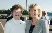 Ladies Golf Journey Publisher, Rosemary Johnson, with Kentucky Governor Martha Lane Collins